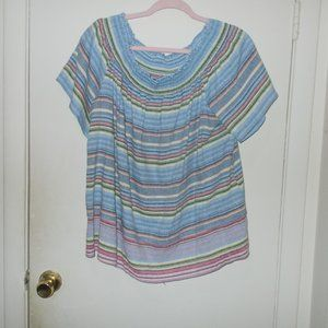 My Story Linen Blend Top Size Extra Large
